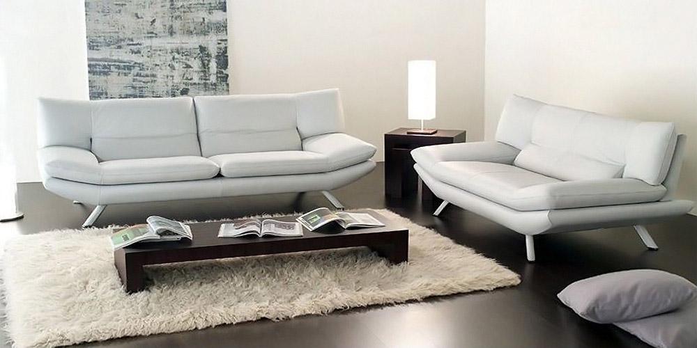Divano in pelle divano in tessuto modello alaska - Divano bianco in pelle ...