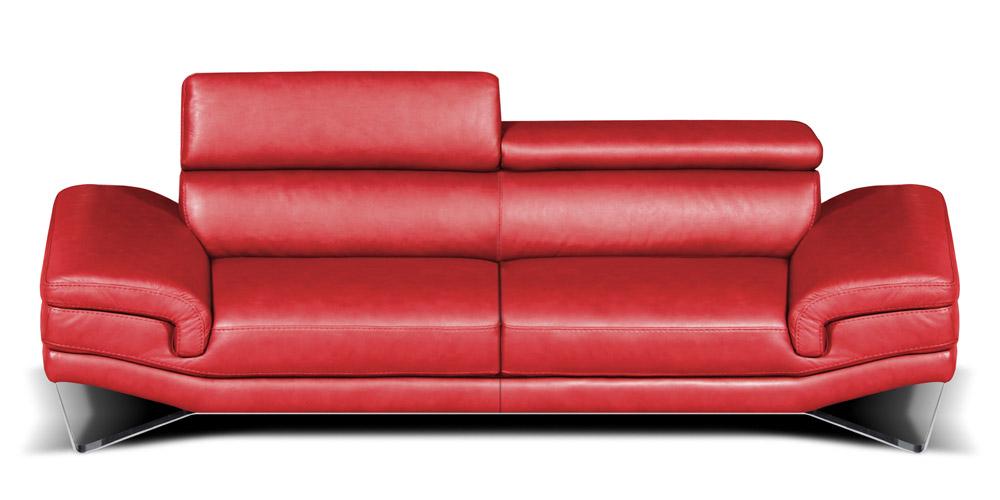 Divano in pelle divano in tessuto modello amazon - Divano rosso pelle ...