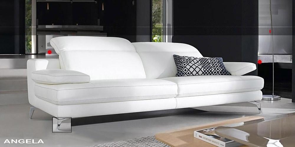 Divano Di Pelle Bianco.Divano Design Modello Angela Interamente In Pelle Ebay