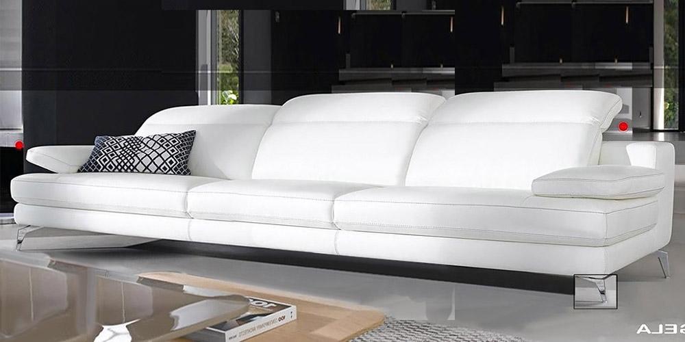 Divano in pelle divano in tessuto modello angela for Divano 4 posti
