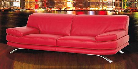 Divani in pelle e tessuto divani per tutti collezione - Divano pelle rosso ...