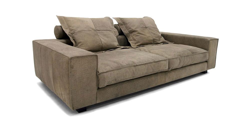 Divano in pelle divano in tessuto modello cardinal - Divano profondo ...