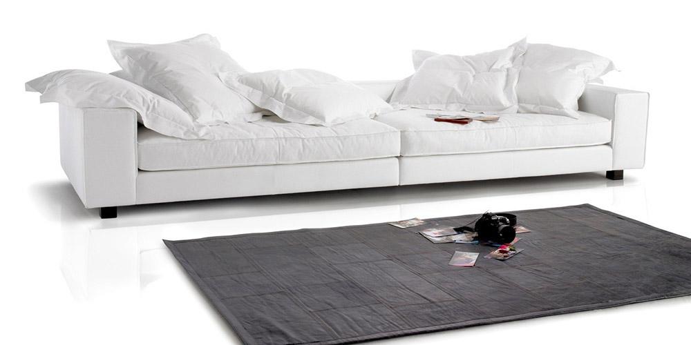 Divano in pelle divano in tessuto modello cardinal - Divano bianco in pelle ...
