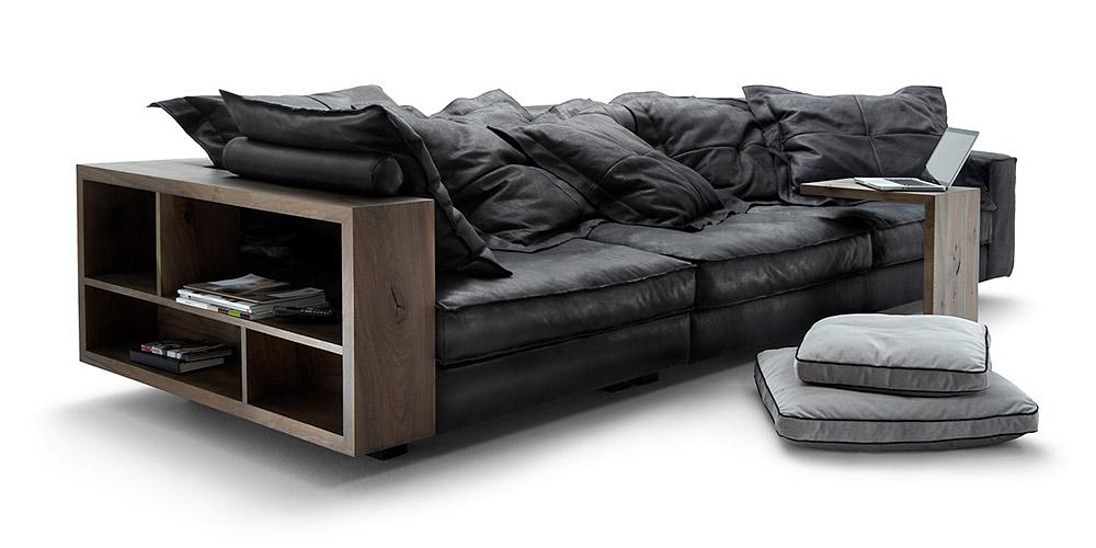 Divano in pelle divano in tessuto modello cardinal for Divano 4 posti