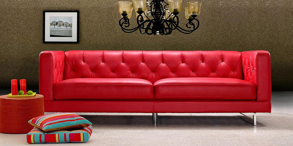Divano Pelle Rosso.Divano In Pelle Divano In Tessuto Modello Cartier