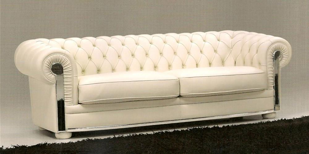 Divano in pelle divano in tessuto modello chester lux - Divano chester frau ...