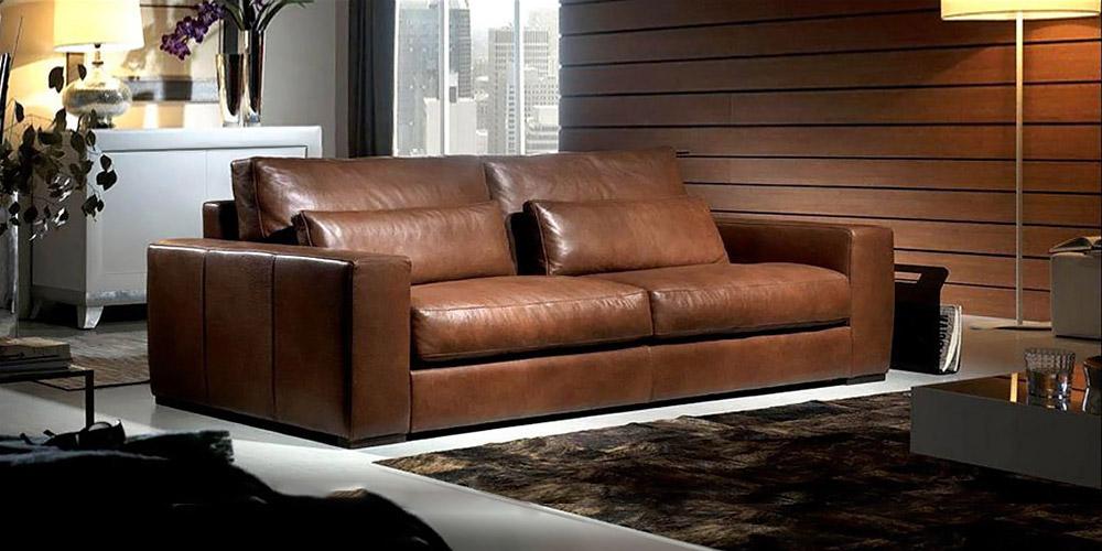 Divano in pelle divano in tessuto modello italo for Divano letto in pelle prezzi