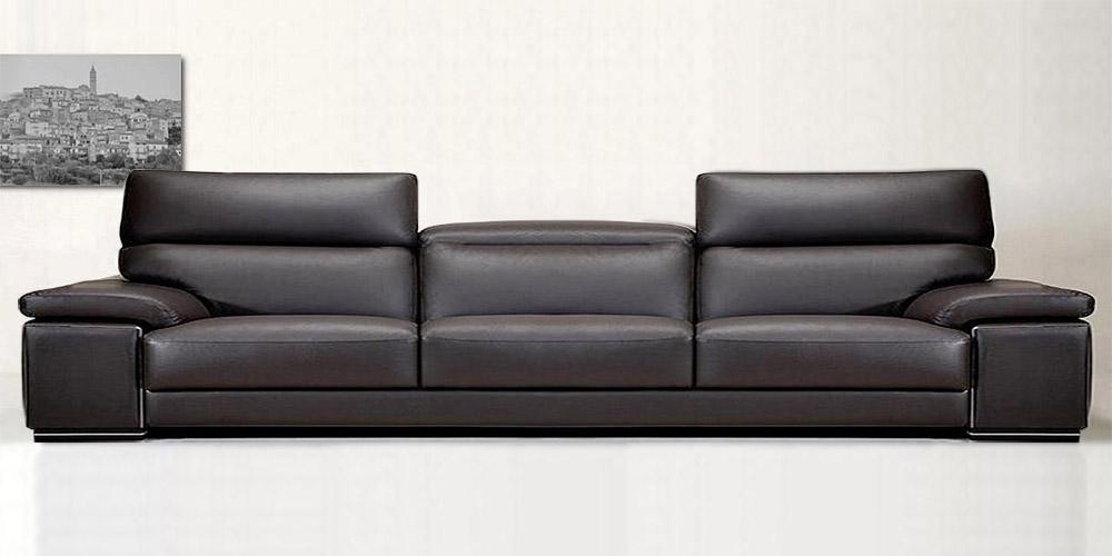 Divano in pelle divano in tessuto modello made in sud - Divano in pelle nero ...