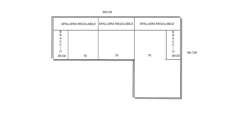 Divani misure gallery of misure rod system with divani - Dimensioni divano angolare ...