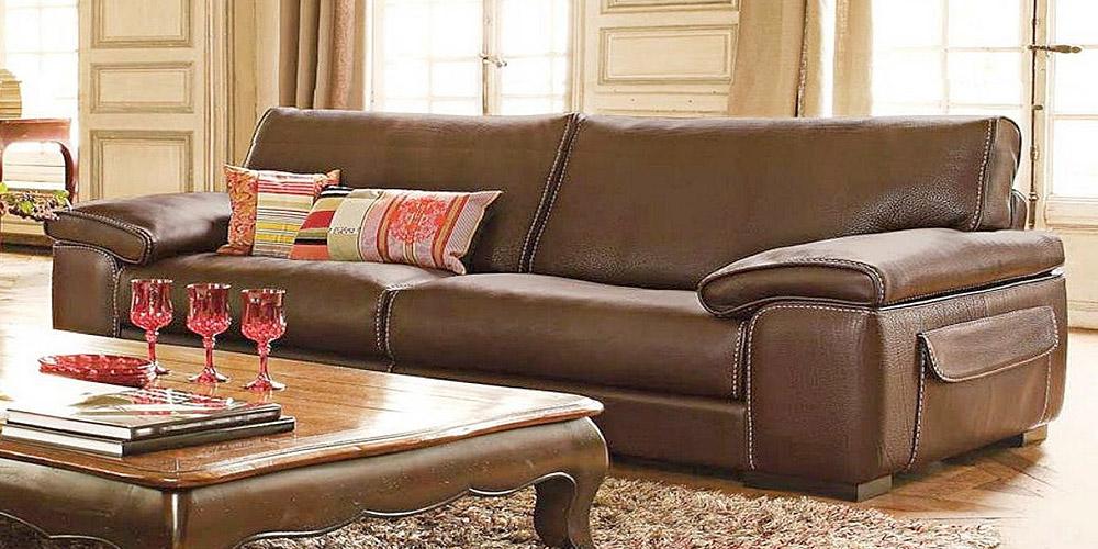 Divano in pelle, divano in tessuto modello Montecarlo