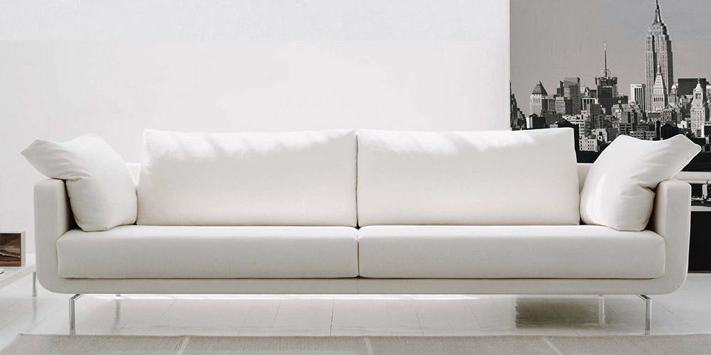 Divano in pelle divano in tessuto modello queen for Divano letto 4 posti lineare