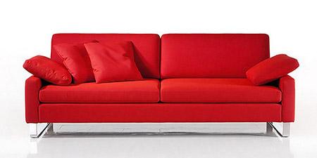 Divani in pelle e tessuto divani per tutti collezione - Divano in pelle rosso ...