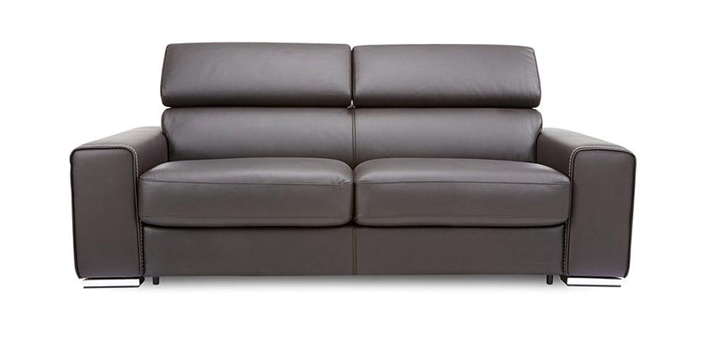Divano in pelle divano in tessuto modello tempo - Divano in pelle nero ...