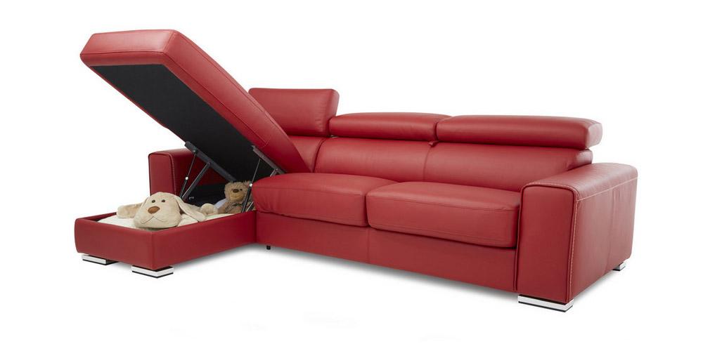 Divano in pelle divano in tessuto modello tempo - Divano in pelle rosso ...