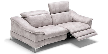 Divani in pelle e tessuto divani per tutti collezione - Divano 2 posti relax ...
