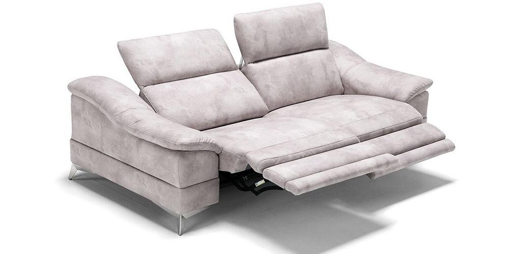 Divano in pelle divano in tessuto modello villanova con relax - Divano 3 posti divano 2 posti ...